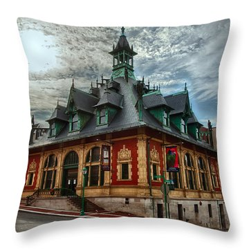 Customs House Museum Throw Pillow