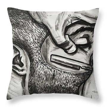 Cut Close And Personal Throw Pillow by The Styles Gallery