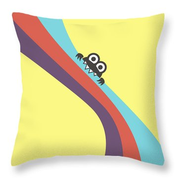Cute Bug Bites Candy Colored Stripes Throw Pillow