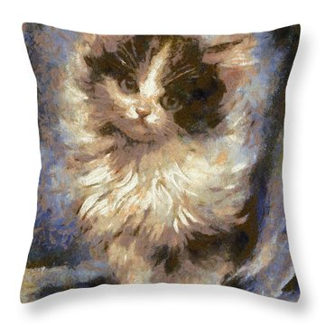 Cute Kitty Throw Pillow