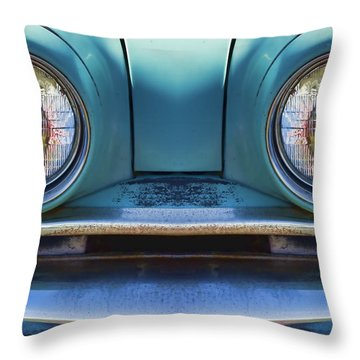 Cute Little Car Faces Number 1 Throw Pillow
