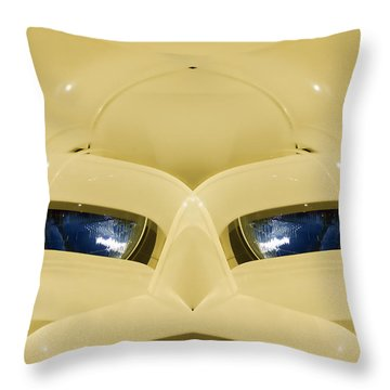 Cute Little Car Faces Number 3 Throw Pillow