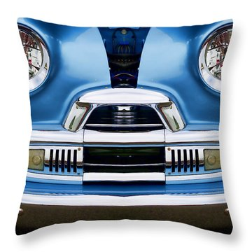 Cute Little Car Faces Number 4 Throw Pillow