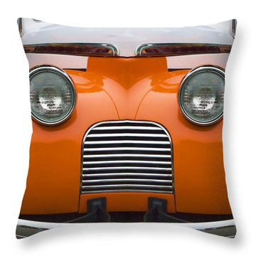 Cute Little Car Faces Number 5 Throw Pillow