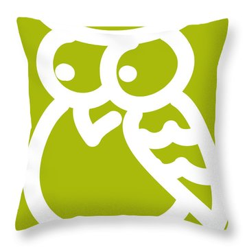 Cute Owl Nursery Print Throw Pillow by Nursery Art