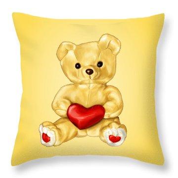Cute Teddy Bear Hypnotist Throw Pillow
