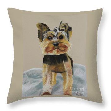 Cute Yorkie Throw Pillow