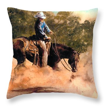 Cutter At Work Throw Pillow
