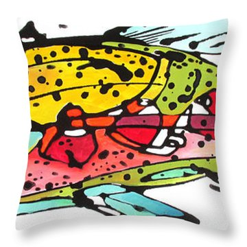 Cutthroat Trout Throw Pillow