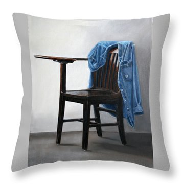 Throw Pillow featuring the painting Cutting Class by Gail Chandler