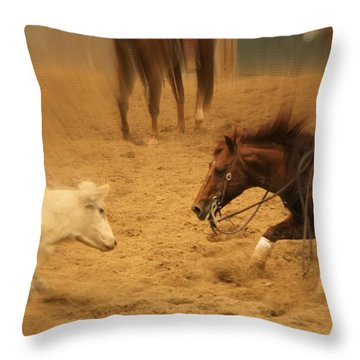 Cutting Horse 8 Throw Pillow