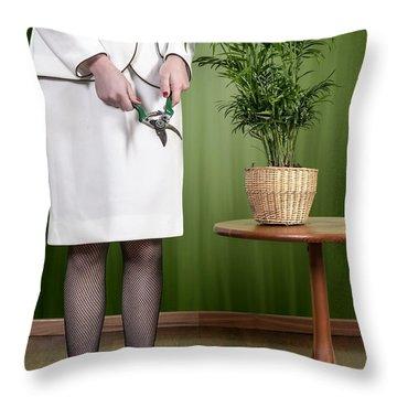 Cutting Plant Throw Pillow by Joana Kruse