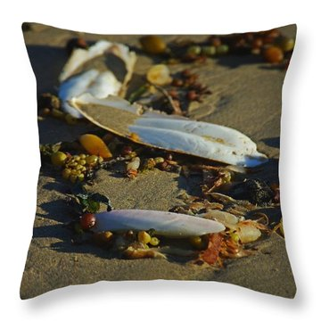 Cuttle Clutter Throw Pillow