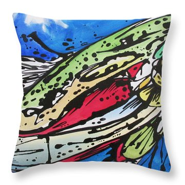 Throw Pillow featuring the painting Cutty by Nicole Gaitan