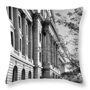 Cuyahoga County Court House Throw Pillow