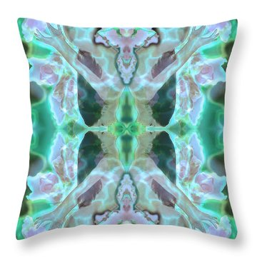 Cyan Fairy Kiss Of Enlightenment Throw Pillow