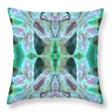 Cyan Fairy Kiss Of Enlightenment Throw Pillow by Deprise Brescia