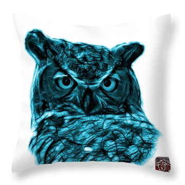 Cyan Owl 4436 - F S M Throw Pillow