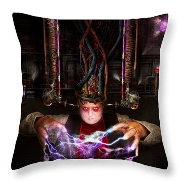 Cyberpunk - Mad Skills Throw Pillow by Mike Savad