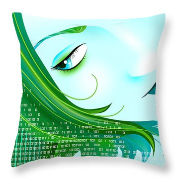Cyberpunk Throw Pillow by Sandra Hoefer