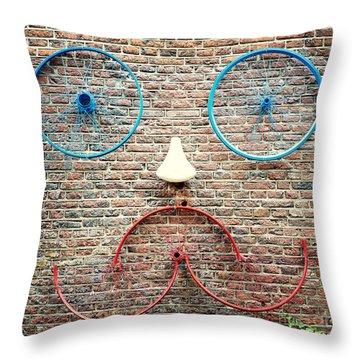 Cycle Face Throw Pillow