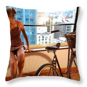 Cycle Introspection Throw Pillow