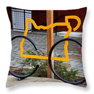 Throw Pillow featuring the photograph Cycle Oregon by Kevin Desrosiers