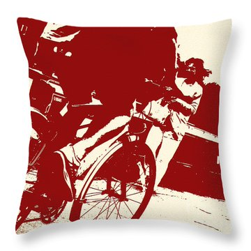 Cycle Path Throw Pillow