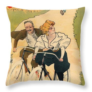 Cycles Gladiator Throw Pillow