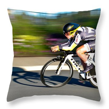 Throw Pillow featuring the photograph Cycling Prologue by Kevin Desrosiers