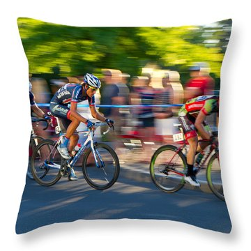 Cycling Pursuit Throw Pillow