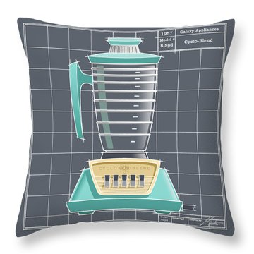 Cyclo-blend - Aqua Throw Pillow