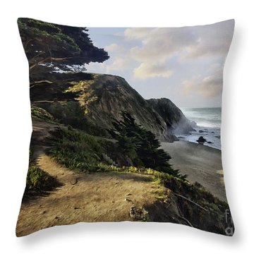 Cypress Beach Throw Pillow