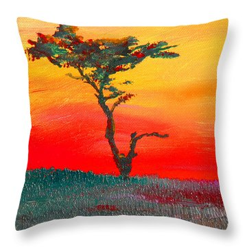 Cypress Sunrise Throw Pillow