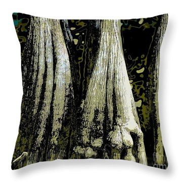 Cypress Three Throw Pillow by Sally Simon