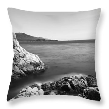 Cypress Tree At The Coast, The Lone Throw Pillow by Panoramic Images