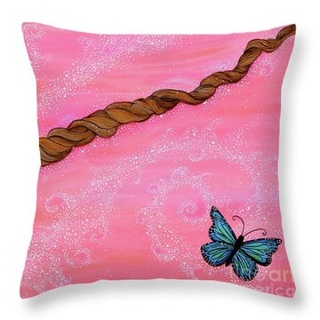 Cypress Wand Throw Pillow by Deborha Kerr