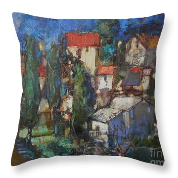 Cypresses Throw Pillow