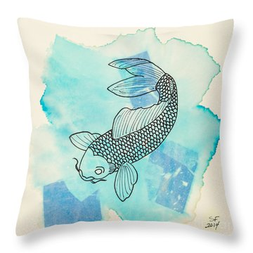 Cyprinus Carpio Throw Pillow