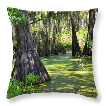 Cyprus Trees Throw Pillow