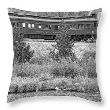 Cyrus K  Holliday Private Rail Car Bw Throw Pillow by James BO  Insogna