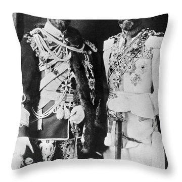 Czar Nicholas And King George V Throw Pillow