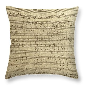 Czech Republic Prague Symphony No. 38 In D Major Called Prague Symphony Throw Pillow by Wolfgang Amadeus Mozart