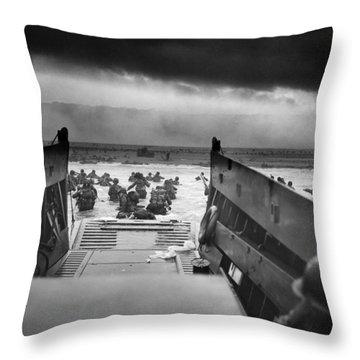 D-day Landing Throw Pillow