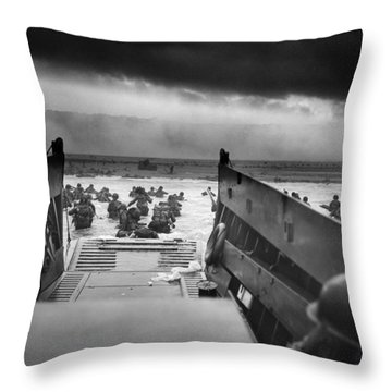 D-day Landing Throw Pillow
