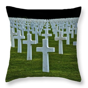 D-day's Price Throw Pillow by Eric Tressler
