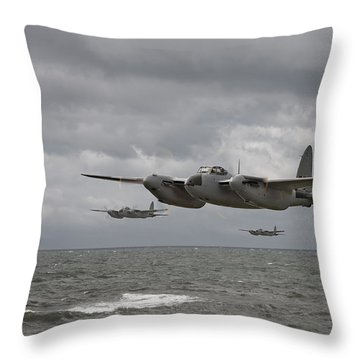 D H Mosquito Throw Pillow by Pat Speirs