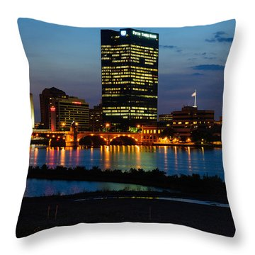D12u152 Toledo Ohio Skyline Photo Throw Pillow