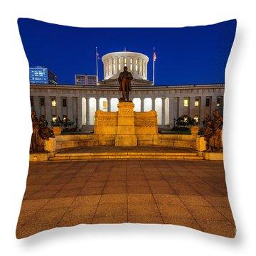 D13l112 Ohio Statehouse Photo Throw Pillow
