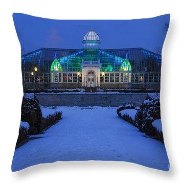 D5l-280 Franklin Park Conservatory Throw Pillow